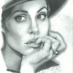 Angelina Jolie drawing by Sonja Heisinger