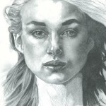 Keira Knightly drawing by Sonja Heisinger