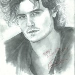 Orlando Bloom drawing by Sonja Heisigner