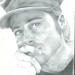 Brad Pitt drawing by Sonja Heisinger