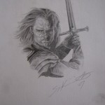 """Lord of the Rings"" drawing by Sonja Heisinger"